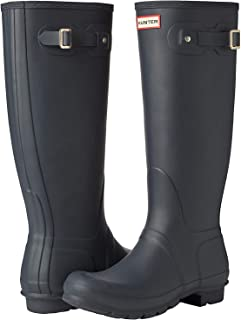 Hunter Womens Original Tall Gloss Boot Original Tall Gloss Boot Size: 6 Navy Matt