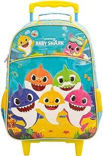 Mala com Rodas 16 Baby Shark Family - 9030 - Artigo Escolar Baby Shark, Azul