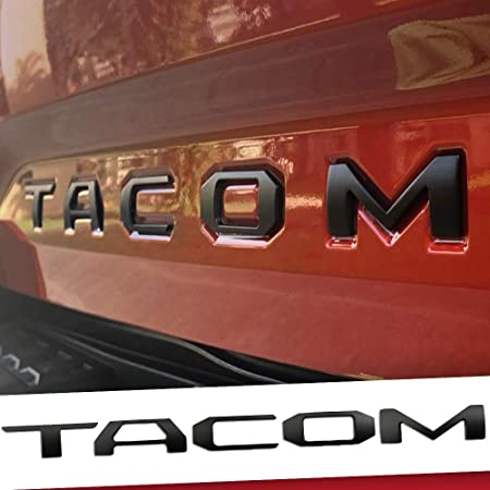 Auto Rover 3D Raised Tailgate Zinc Alloy Metal Insert Letters for Taco 2016-2021 Rear Emblem Decals with 3M adhesive backing (Matte Black)