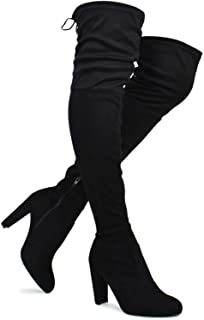 f3cdd4060485 Premier Standard Women's Over The Knee Boot - Sexy Over The Knee Pullon Boot  - Trendy