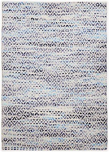 Handgewebter Teppich Smooth Comfort in Blau Teppichgröße: 140 x 200 cm