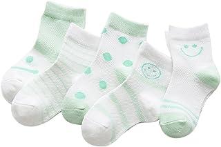 Black Temptation, 5 pares unisex del bebé Calcetines, 1-3 años de edad del bebé del algodón Calcetines #04