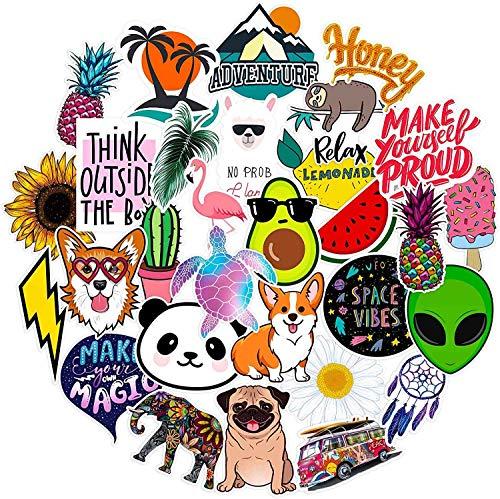 Laptop Skin Decals,Phone Sticker Big 30-Pack Cute,Waterproof,Aesthetic,Trendy Bottle Stickers for Teens,Girls Travel