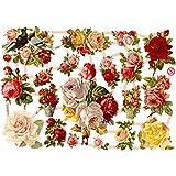 Glanzbilder, 16,5x23,5 cm, nostalgische Rosen, 3 Blatt
