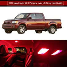 SCITOO LED Interior Lights 12pcs Red Package Kit Accessories Replacement for 2000-2006 Toyota Tundra
