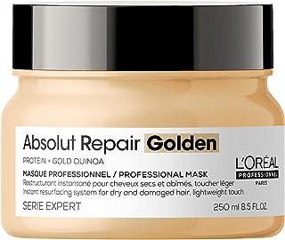 L'Oréal Professionnel Paris | Maschera Gold professionale per capelli secchi e danneggiati Absolut Repair Serie Expert, Fo...