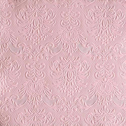 Ambiente - Servietten - Elegance - geprägt - 33x33cm - 15 Stück - Farbe: Pastel rose 1109