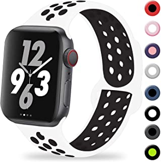 VIKATech Compatible con Apple Watch Correa 44mm 42mm 40mm 38mm, Correa Deportiva Reemplazo clásico de Silicona Suave Transpirable para iWatch Series 5/4/3/2/1