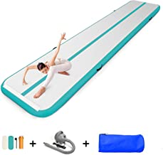 EZ GLAM 10ft/13ft/16ft/20ft Air Track Inflatable Gymnastics Tumbling Air Track Mat with..