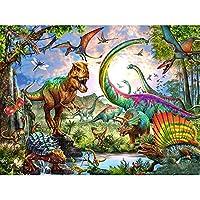 フルラウンド/スクエアダイヤモンドペインティング恐竜動物5Dダイヤモンドアート刺繍家の装飾手作り