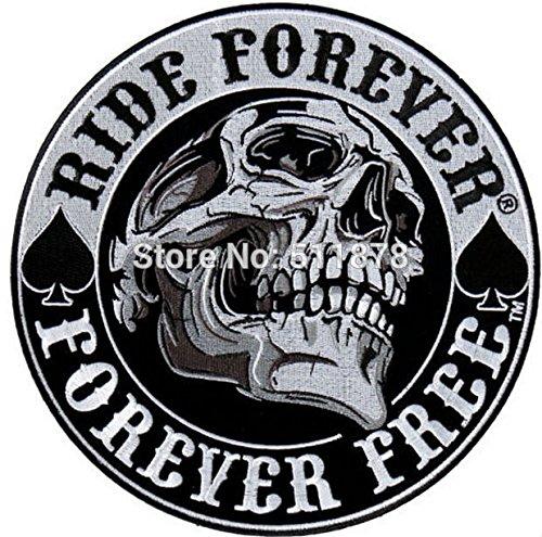 ASTONISH 3.5 & quot; Spaten-Schädel Anarchie Outlaw Reiter Rock-Heavy Metal Biker Weste Kostüm gesticktes Eisen auf Flecken für Immer Fahrt Abzeichen