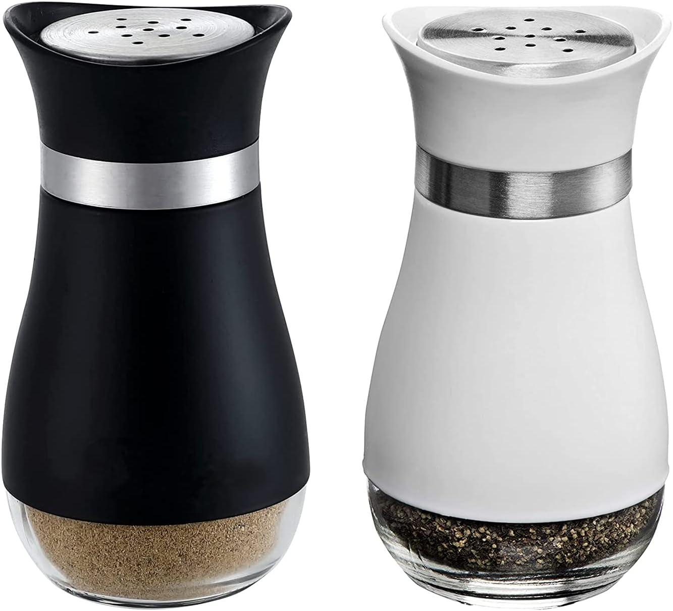 Rarapop 2 Pack Classic Salt and 4OZ Shakers Pepper Portland gift Mall Refillab Set