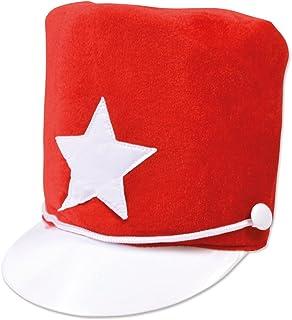 Majorette Hat. Red Soft Felt (Hats) - Female - One Size (gorro/sombrero)