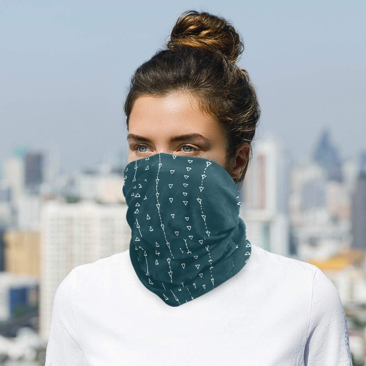 Pattern MinimalistFace Mask Sun UV Protection Bandana Mask Rave Neck Gaiter Balaclava Headwrap Face Cover Scarf