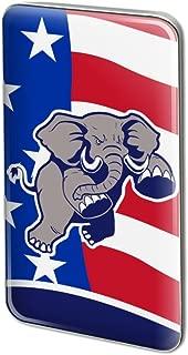 Angry Republican Elephant Politics GOP Rectangle Lapel Pin Tie Tack