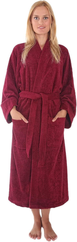 Arus Women's Atlantis Kimono Style Turkish Cotton Terry Cloth Bathrobe Robe