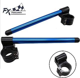 Universal 31mm - 54mm CNC Adjustable Motorcycle Riser Clip On Ones Handlebar Fork Handle Bar 31mm 33mm 35mm 36mm 41mm 52mm Blue