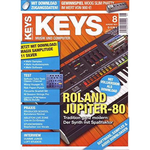 Keys 8 2011 - Roland Jupiter-80 - Magix Samplitude 11 Silver Download - Personal Samples - Free Loops - Audiobeispiele