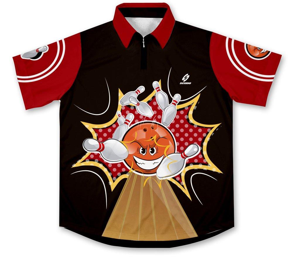 Crash Bowling Jersey Camisa de Bolos -: Amazon.es: Deportes y aire libre