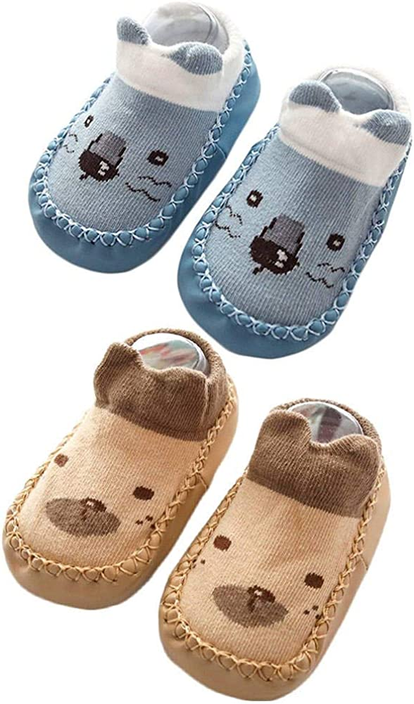 Luxury goods Max 83% OFF Baby Slipper Socks Prewalker Shoes with for Rubber Toddler Grips