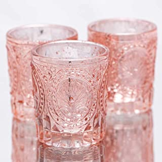 Richland Votive Holders Mercury Primrose Wedding Event Candle Glow Rose Gold Set of 12