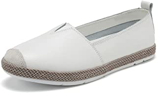 KEESKY 2019 New Leather Flats Loafers for Women