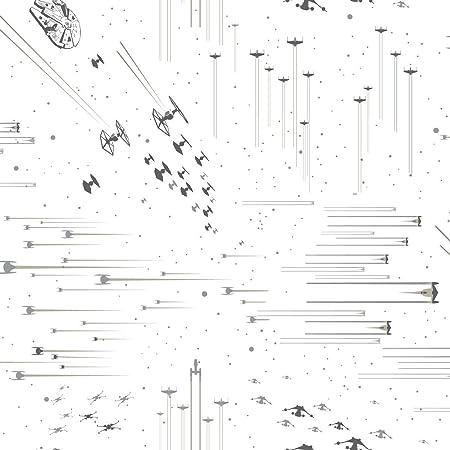 York Wallcoverings Di0952 Star Wars Galactic Battles Wallpaper Black White Amazon Com
