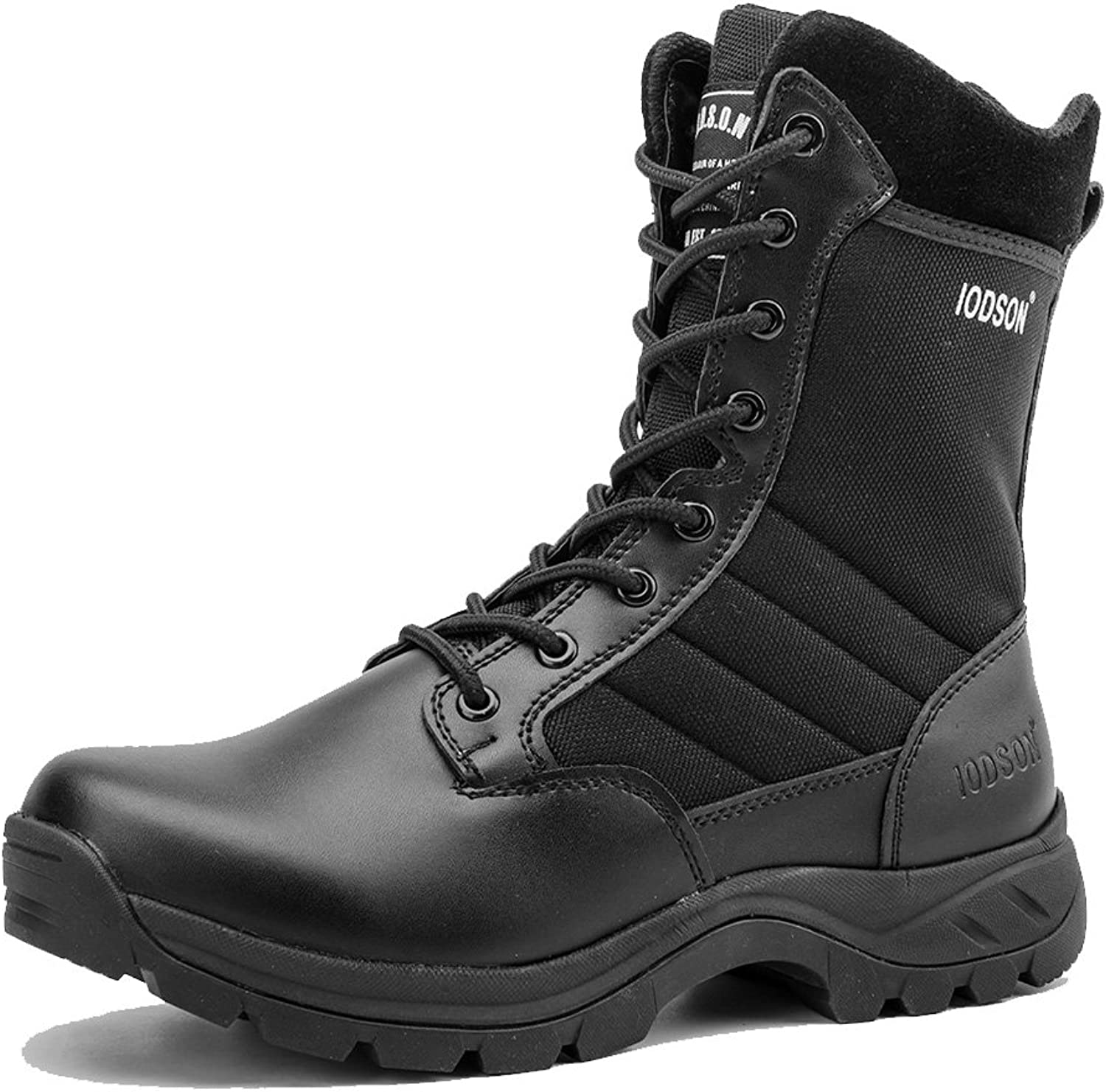 IODSON 928 Ultralight Combat Boots, Men's Tactical Military Boot Footwear, Desert Ankle Army shoes with Side Zipper