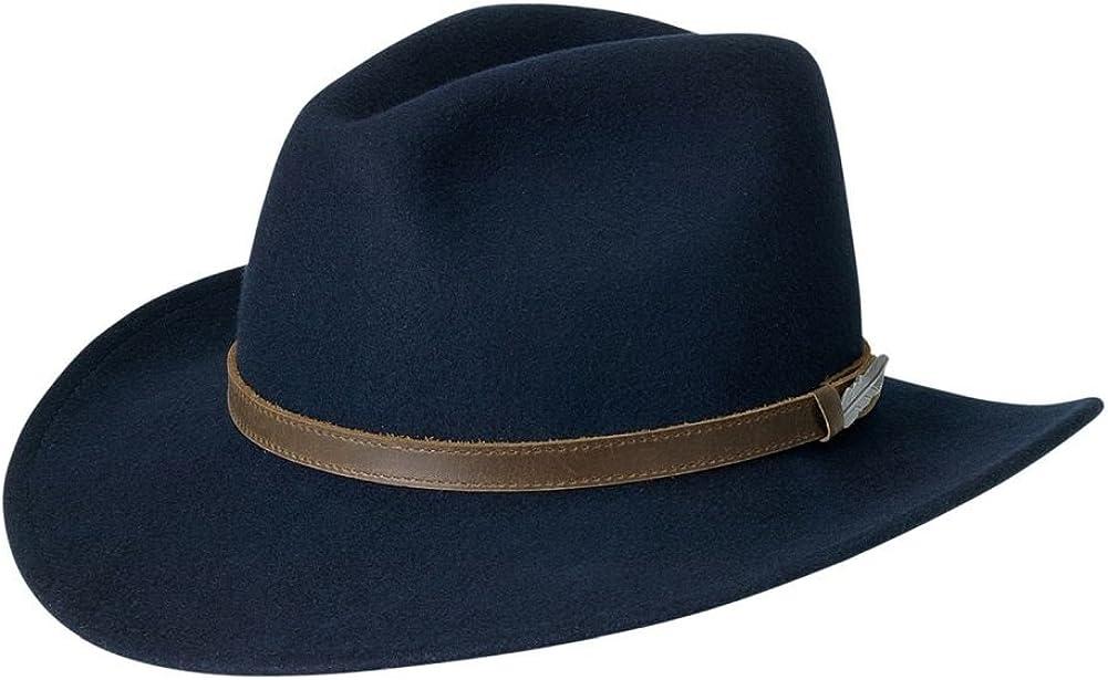 shopping Black Creek Men's Crushable Hat Wool Medium Navy Sale price