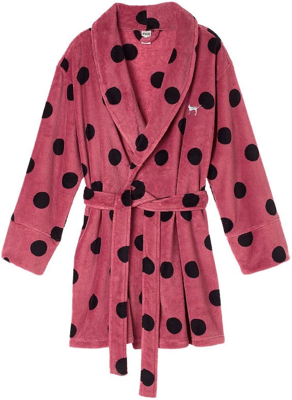 Victoria's Secret Cozy Pink Polka Dot Robe Soft Begonia XS S
