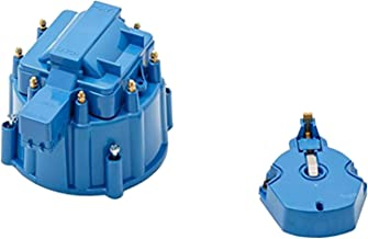 A-Team Performance CR8BL HEI OEM Distributor Cap, Rotor and Coil Cover Kit Blue