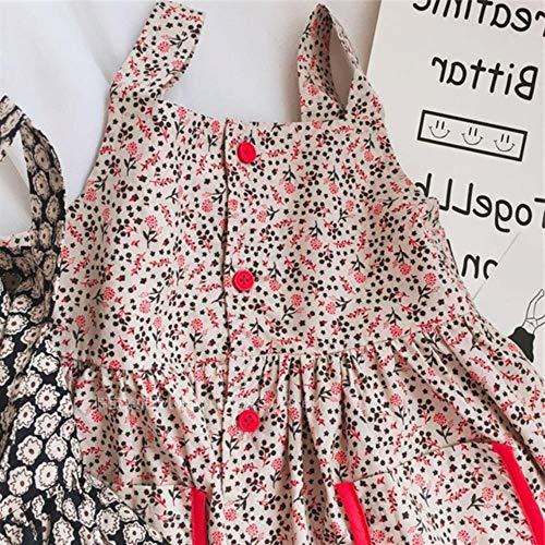 girls'dress s Flowers kleidet Princess kleidet Sommerkleider Neue Kinder tragen Kindermode Kleid elegant,beige,90cm