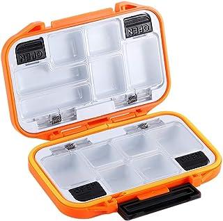 Guangcailun La Pesca Storage Box di plastica di Pesca Tackle Custodia Tenuta Portatile dei Pesci Accessori Contenitore