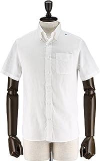 SWEEP!! LosAngeles スウィープ ロサンゼルス メンズ コットンリネン 半袖ボタンダウンシャツ S/S Cotton/Linen (ホワイト)