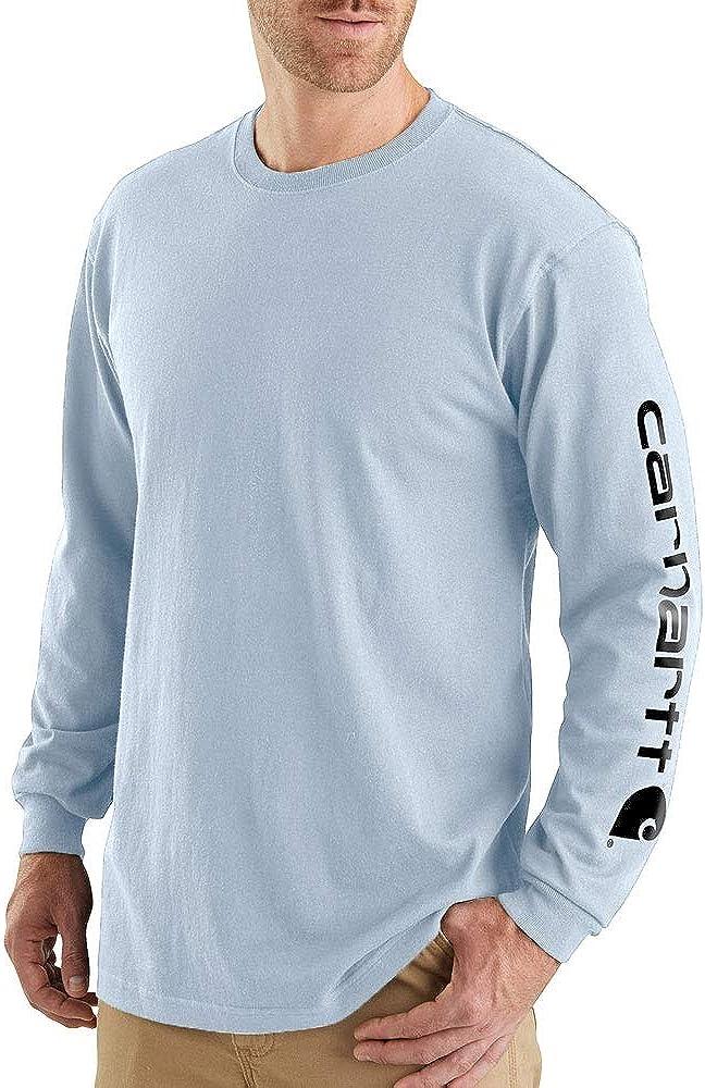 Carhartt Men's Signature Logo Long Sleeve T Shirt