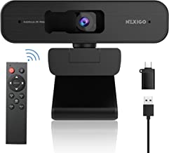 NexiGo 2K Zoomable Webcam with Remote Control and Sony Sensor | USB A & C Web Camera | AutoFocus | 1080P@ 60FPS | 3X Zoom ...