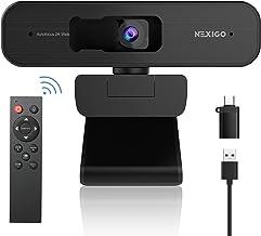 NexiGo 2K Zoomable Webcam with Remote Control and Sony Sensor   USB A & C Web Camera   AutoFocus   1080P@ 60FPS   3X Zoom ...