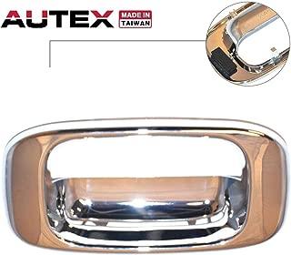 AUTEX Chrome Tailgate Handle Bezel Door Handle Liftgate Rear Hatch Compatible with GMC Sierra,Chevrolet Silverado 1500 2500 3500 Classic 99-07 91134 15046-512CH 15046512CH