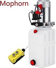 Mophorn 6 Quart Hydraulic Pump Dump Trailer 12V Hydraulic Power Unit (Plastic, 6 Quart/Single Acting)