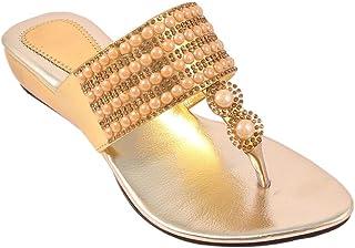 2237647a987dd Amazon.in: Gold - Ethnic Footwear / Women's Shoes: Shoes & Handbags