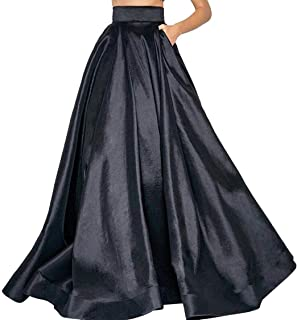 Nirmalayam Long Skirt for Women Flared Skirt of Heavy Smooth Silk with Cane Inside