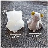 CNSD - Stampo in silicone con orso 3D fai da te, geometria stereo, in silicone, decorazione ornamentale in cristallo epossidico, A, CHINA