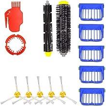 IOTdou Durable Vacuum Parts Replacement For 1Pcs Flexible Beater Brush 1Pcs Bristle Brush 5Pcs Filters 5Pcs 3 Armed Brushes For Irobot Roomba 650 655 660 620 630 645 Vacuum Accessories Blue
