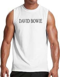 David Bowie Men's Sleeveless T-Shirt Workout Muscle Bodybuilding Tank Top