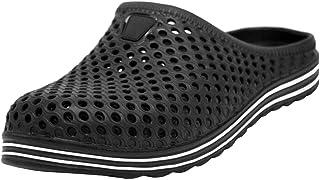 Men's Beach Garden Pool Slip On Backless Clogs Mules Sandals Sliders Black