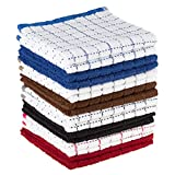 Dish Cloths Pack, Set of 16 Kitchen Wash Towels, Cleaning/Drying by Lavish Home