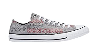 Converse Chuck Taylor All Star Wordmark Print Canvas Low Top Lace-up Sneakers for Men - Dolphine and White, 41.5 EU