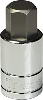 Titan Tools 15617 1/2-Inch Drive x 17mm Hex Bit Socket