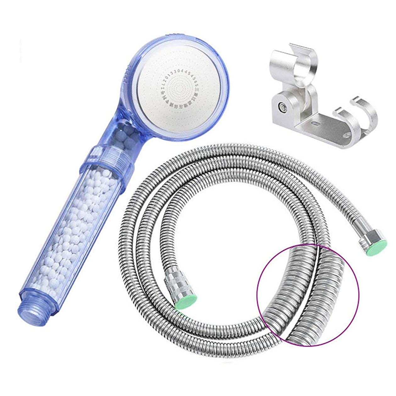 構築する固執士気実用的なハンドシャワー マイナスイオン第3ギア磁気療法シャワー加圧シャワーヘッド節水手持ち浴室シングルヘッドホースシャワーヘッド (Color : 4)