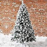 Powzz ornament Cifra blanco Simulación Cedro Copo de nieve nieve Flocking Árbol de Navidad casa de Navidad 2.4M